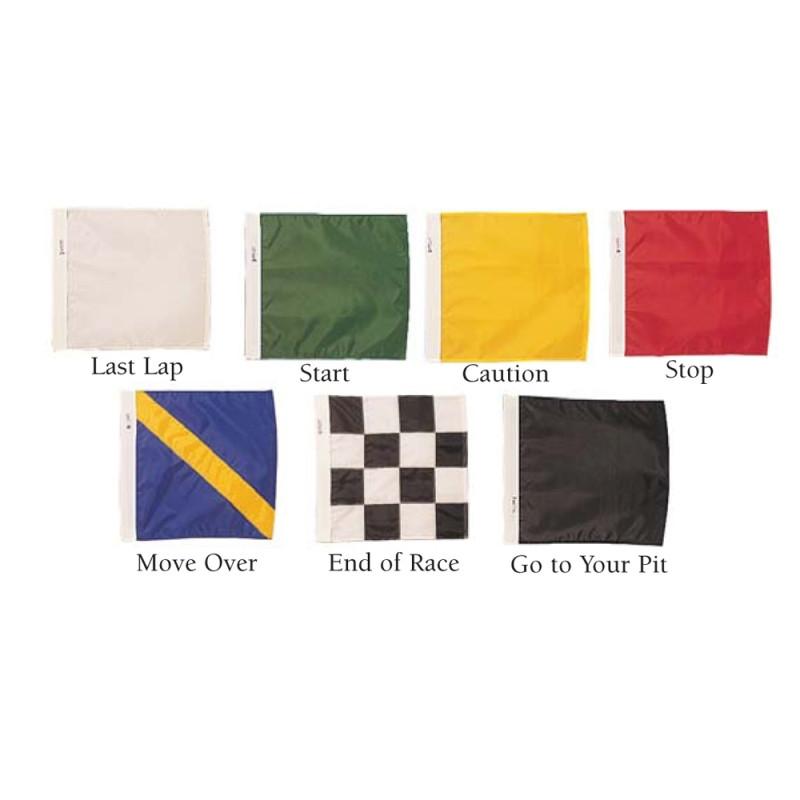 Official auto racing flag set