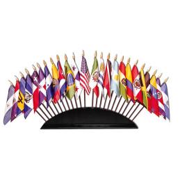 drapeaux miniatures multiples