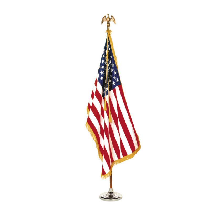 US flag mounted set